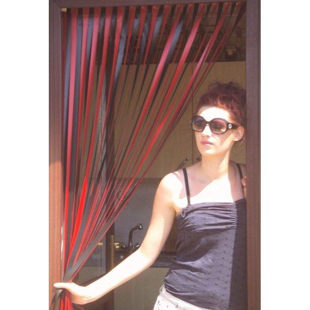 Dørforhæng - Flueforhæng - Milano rød og sort
