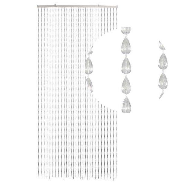 Perleforhæng med Klare dråbeformede perler