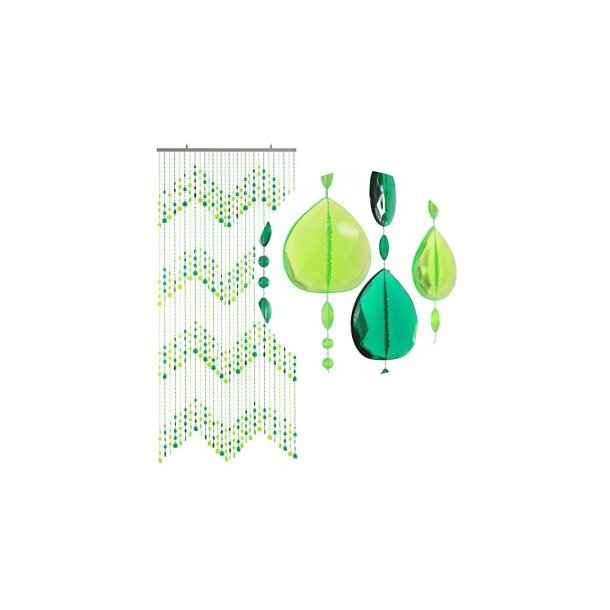 Perleforhæng Teardrops Grønne perler
