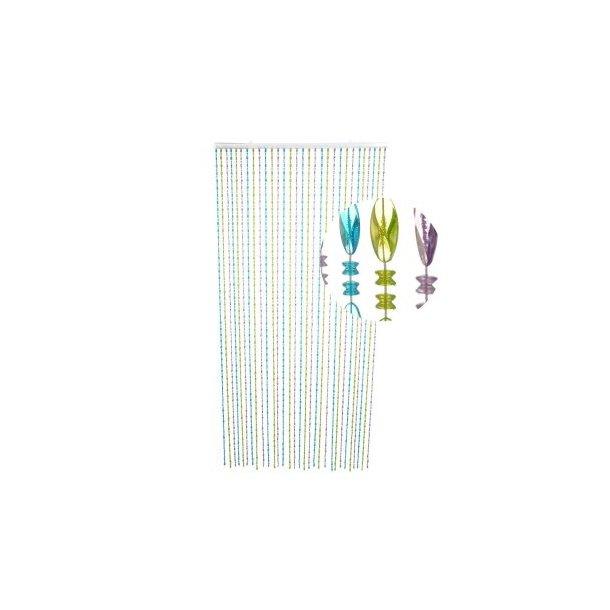 Perleforhæng Twister - blå, grønne og lilla perler